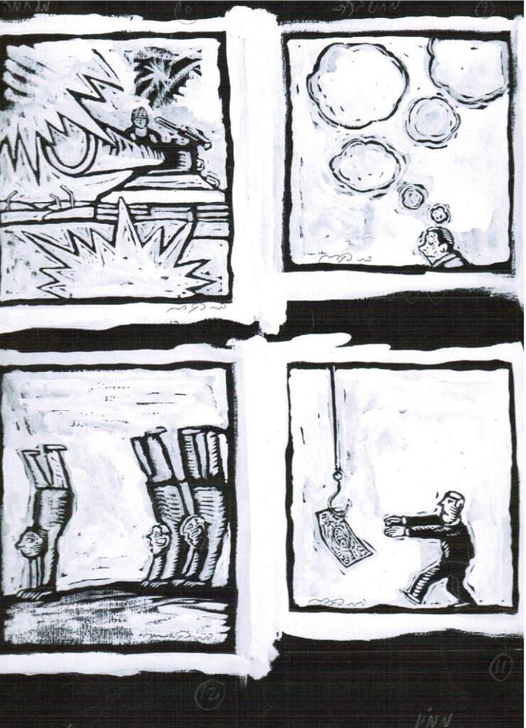 דני קרמן, מחשבות, איורים של מתוך הספר מכתב לעגנון, בעריכת אורי סלע, 1994